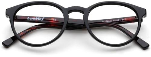 Mustat pyöreät silmälasit