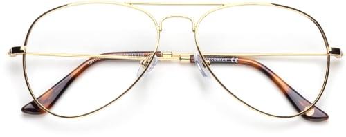 pilotglasögon guldfärgad