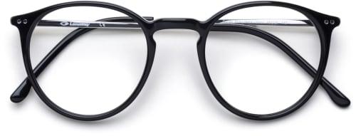 Svarta runda glasögon