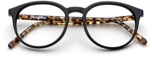 Runde svarte briller