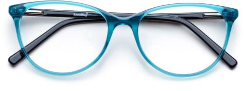 Gjennomsiktige blå briller
