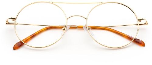 Runda guld glasögonbågar 2020 dam