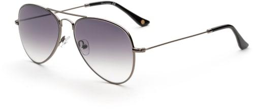 Solbriller i pilotmodell med sølvfargede innfatninger