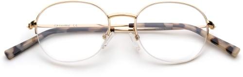 Bubbly - Gold runda glasögon i gild