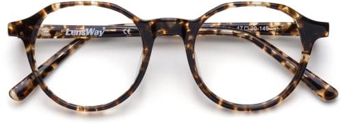 Horninnfattede tortoise-briller