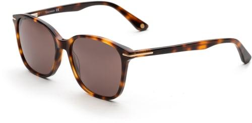 Bruna solglasögon med mönstrade bågar