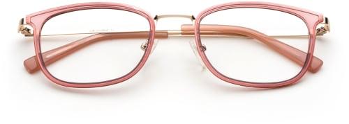Glasögonmode för 2020 - rosa bågar från The Collection