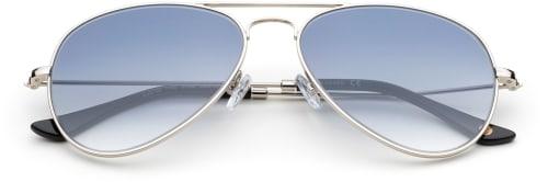 Pilotglasögon med blåa glas