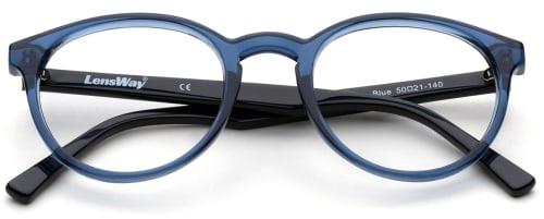 briller med tykke plastinnfatninger