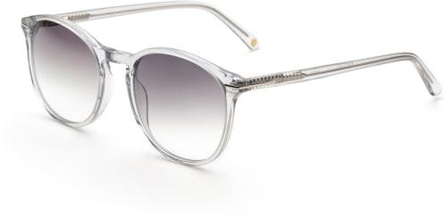Gjennomsiktige solbriller med svart glass