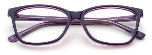 Lila glasögonbågar från The Collection