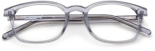 Gjennomsiktige grå briller