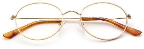 Brillemote for 2020 -Runde briller i gull