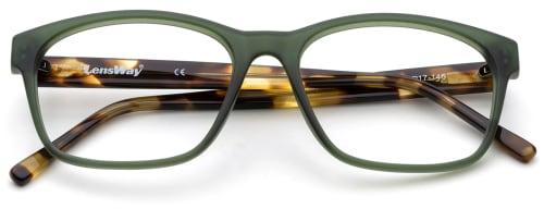 gjennomsiktige grønne briller