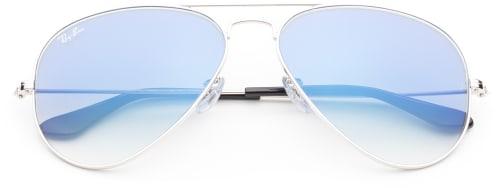 pilotglasögon med blått glas