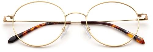 Runda glasögon guld