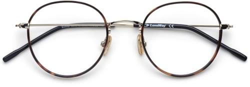 Runda glasögonbågar i metall