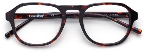 Firkantede briller