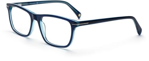 snygga blåa glasögonbågar
