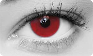 röda ögon av linser