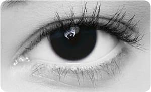 svarta linser
