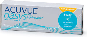 Acuvue Oasys 1-Day for Astigmatism with Hydralux piilolinssit