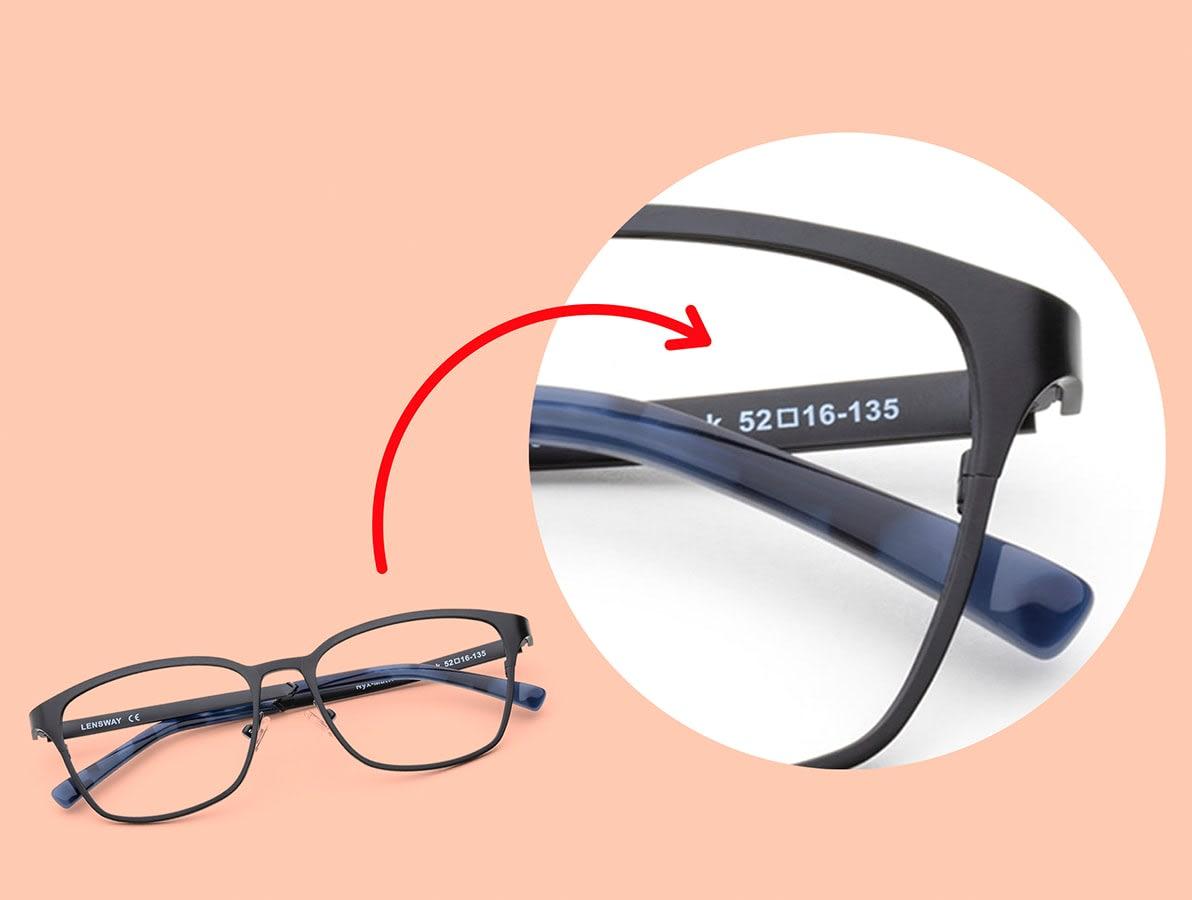 Tyd din bågstorlek på dina gamla glasögon