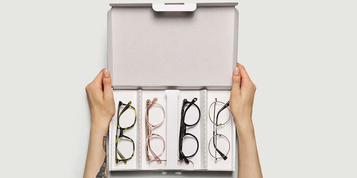 Prova glasögon hemma i lugn och ro